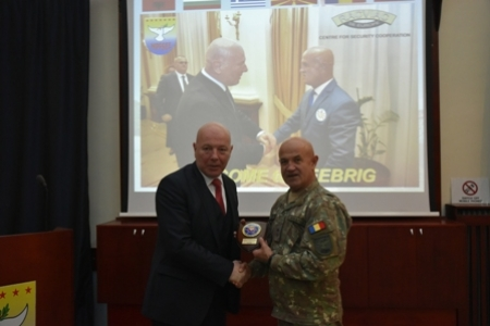 Regional Arms Control Verification and Implementation Assistance Centre (RACVIAC) - Centre for Security and Cooperation delegation visit to SEEBRIG HQ, on 22nd  of January 2020, in Tyrnavos/Na-3