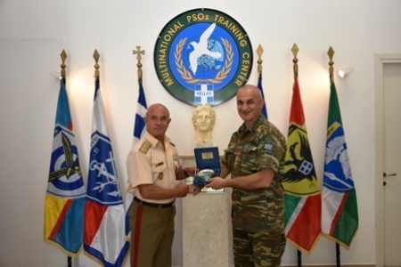 SEEBRIG HQ visit to Multinational Peace Support Operations Training Center Kilkis/Na 3, 09 July 2020