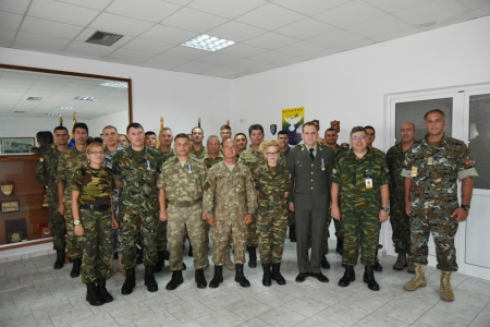 Farewell and Medal Ceremony for CG1, CG3, G4 Movement Officer and COS Clerk on 20 August 2019 Tyrnavos/Larissa Na-3