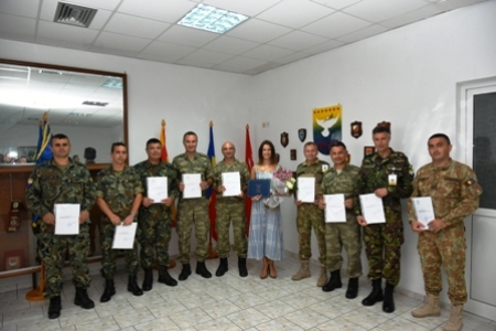 Ceremony for completion of Host Nation Language Course, 17 July 2019, Camp Schina, Tyrnavos/Na-3