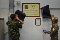 Ceremony for honorary renaming of two briefing rooms in SEEBRIG HQ on 23 August 2019 Tyrnavos/Larissa Na-3